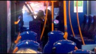 Drunk old Rangers fan on bus