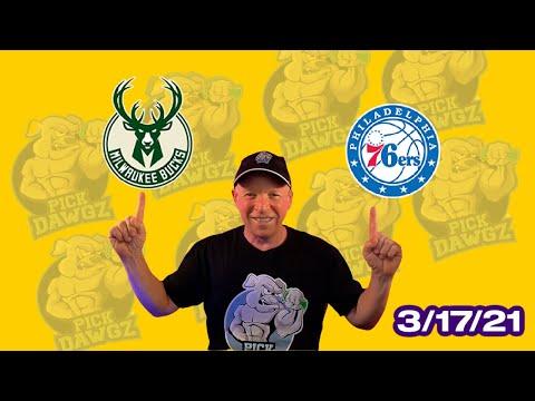 Philadelphia 76ers vs Milwaukee Bucks 3/17/21 Free NBA Pick and Prediction NBA Betting Tips