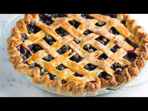 How to Make Homemade Blueberry Pie - Easy Blueberry Pie Recipe with Lattice Crust