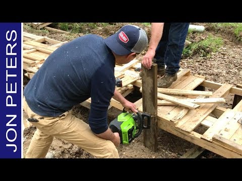 Make a Pallet Wood Bridge, Dual Sport Motorcycle Trail