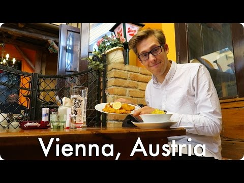 Trying Wiener Schnitzel in Vienna Austria! | Evan Edinger Travel