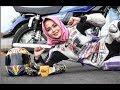 Gadis Cantik Suka Balap  Liar Pakai Motor RX King Giginya Ompong Tetap Pede