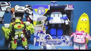 로보카폴리 Robocar Poli toy 말하고 걷는 폴리 장난감과 라바 또봇 놀이