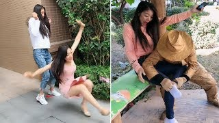 Street Troll - Must Watch New Funny😂 😂 Part 1 - Can't stop laughing【Laugh torn mouth】