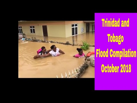 Flood in Trinidad and Tobago Compilation 20 th & 21st October 2018