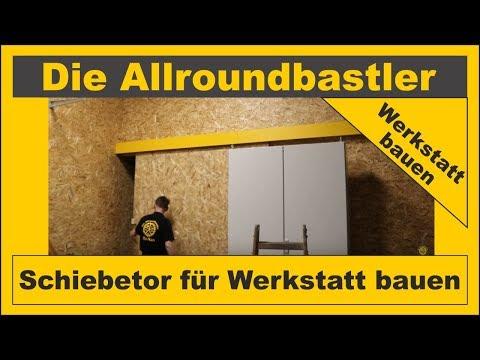 Schiebetor Fur Werkstatt Bauen Youtube