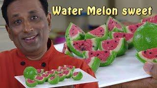 Water Melon or Gauva - Kaju Katli Mava Recipe - Marzipan fruit