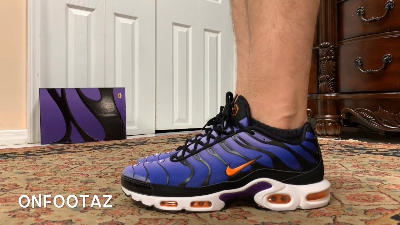 most popular wholesale online great quality Nike Air Max Plus OG Voltage Purple 2018 On Foot