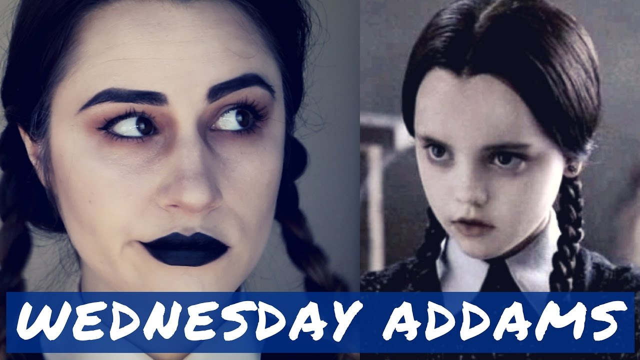 WEDNESDAY ADDAMS , Tutoriel maquillage Halloween