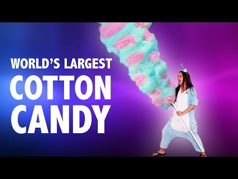 🦄  WORLD'S LARGEST COTTON CANDY 🦄