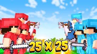 25 VS 25 БИТВА КОРОЛЯ И СЫНА! БРАТ ПРОТИВ БРАТА! Minecraft