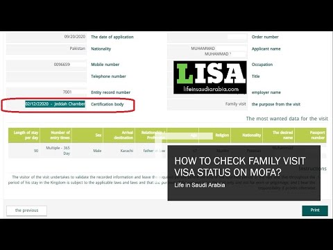 How To Check Family Visit Visa Status On Mofa Life In Saudi Arabia
