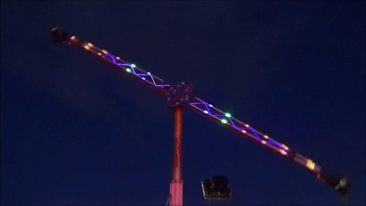 Vertigo Booster Ride At Night Leeds Valentines Fair