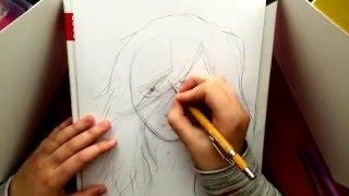 BOY WITH LONG HAIR - speed drawing by ko-hi-