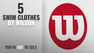 Top 10 Wilson Swim Clothes [2018]: Wilson Sporting Goods Plastic Stencil, Red