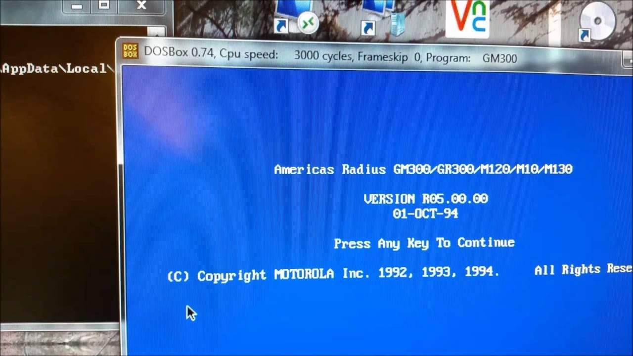 Programming the GM300 on Windows 7