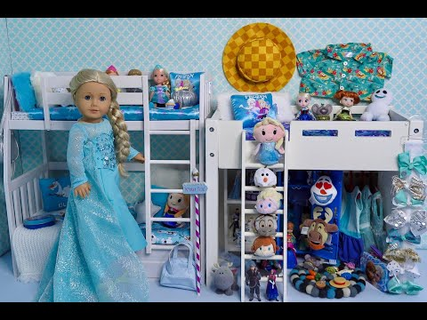 Baby Doll Bedroom For American Girl Doll Frozen Elsa And Anna!