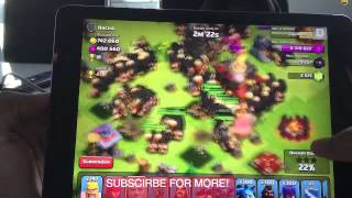 Clash Of Clans Big attaque300 Golem300 Giant/Géants
