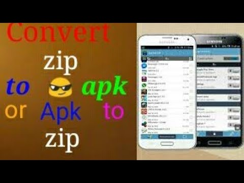😎Convert zip to APK or APK to zip in android mobile👏