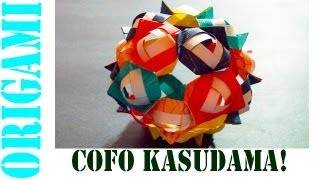Origami Daily - 437: Christmas Cofo Kusudama Decoration (modular 20 Unit) - Tcgames  [hd]