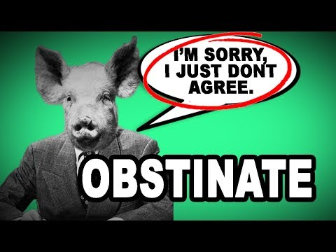 😤👎 Learn English Words: OBSTINATE - Meaning, Vocabulary with Pictures and Examples