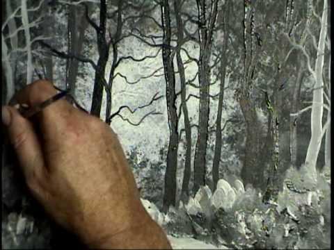 Gary Garrett Painting Demo Bob Ross Tribute Gesso Landscape