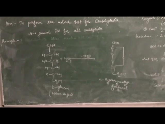 Biochemistry( Molisch Test ) B. Pharmacy 2nd sem