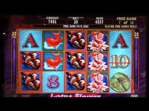 Big Win on Lotus Flower at Aria Casino in Vegas