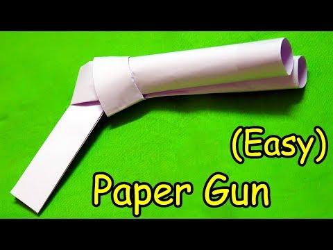 How to make a Paper Gun | Double Barrel Paper Gun (Easy) Tutorial