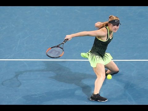 2017 Brisbane International Quarterfinals   Angelique  Kerber vs Elina Svitolina   WTA Highlights