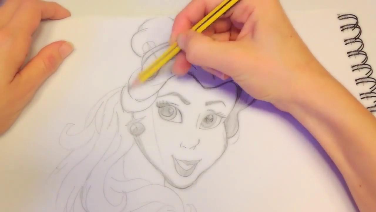 Come disegnare bella la bella e la bestia principesse for Immagini di cavalli da disegnare