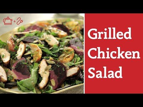 Healthy Grilled Peach Chicken Salad with Rivkah Krinsky