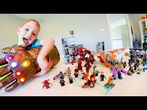 FATHER SON ULTIMATE LEGO BATTLE! / Avengers INFINITY WAR!