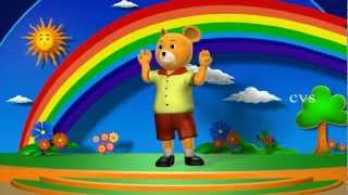Head shoulders knees and toes - 3D Animation English Nursery Rhymes with lyrics