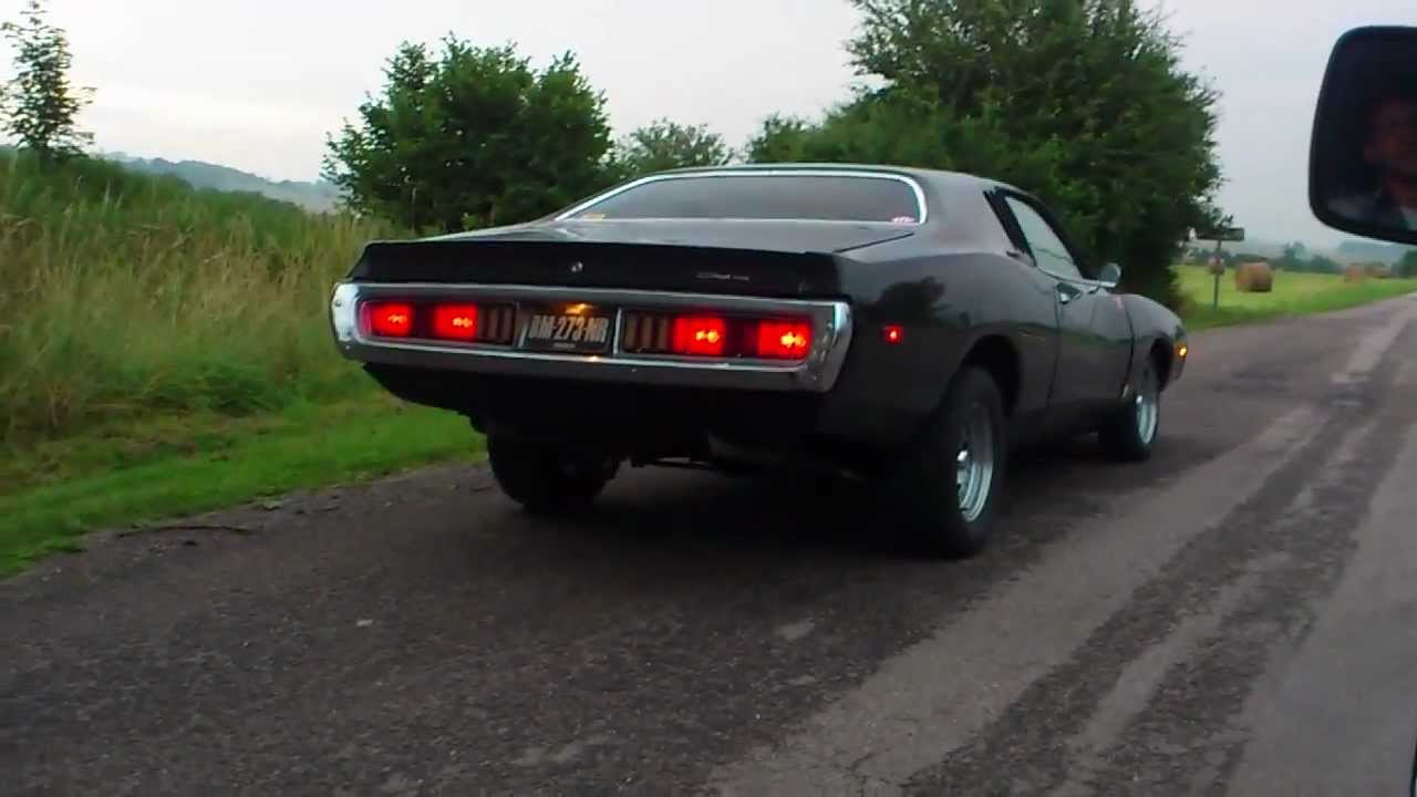 Dodge Charger 1972 400ci Burnout Youtube