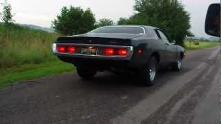 dodge charger 1972 400ci burnout !!!!