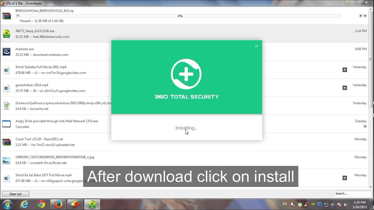 360 Total Security Free Antivirus For Pc Youtube