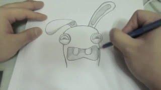 how to draw cartoon bunny rabbit (rayman raving rabbids)