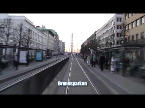 Spårvagn Linje 5 ( Tram line 5 in Gothenburg), hela turen på 9 minuter