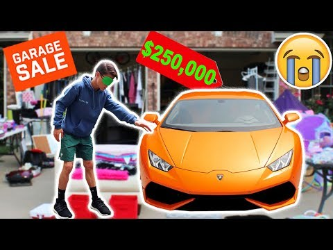 Buying EVERYTHING I Touch Blindfolded At Garage Sale!