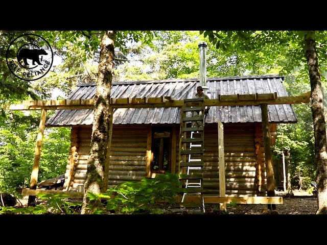 Changing the Roof On My Log Cabin   Off Grid Wilderness Living