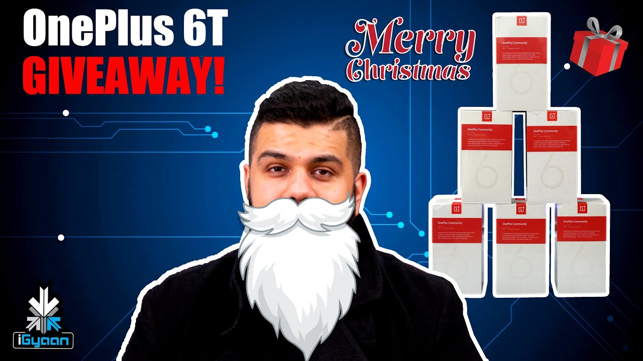 oneplus 6t giveaway oneplus 6t giveaway six phones merry christmas youtube 2855