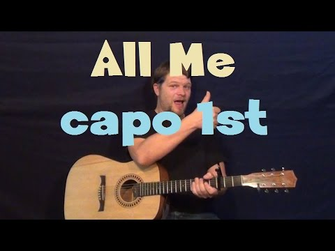 All Me (Drake) Easy Guitar Lesson How to Play Capo 1st Fret Strum ...