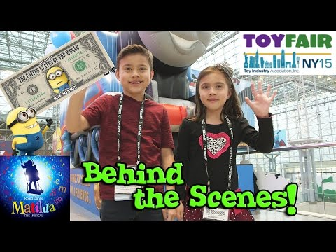 RICH MINIONS!!! Behind the Scenes New York Toy Fair 2015 MATILDA on Broadway!