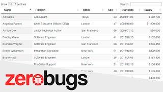 Dica da Semana #4 - Busca, filtragem, paginação e estilização rápida de Tabelas com o DataTables