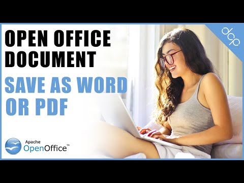 Open Office Writer - Save As PDF Or Word Document Tutorial