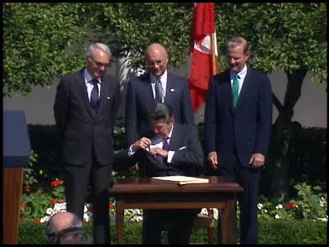 President Reagans Remarks On Signing The Us Canada Free Trade