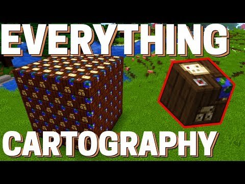 Minecraft Cartography Table: How To Use Maps & Cartography Table In Minecraft 1.14.4+ Avomance 2019