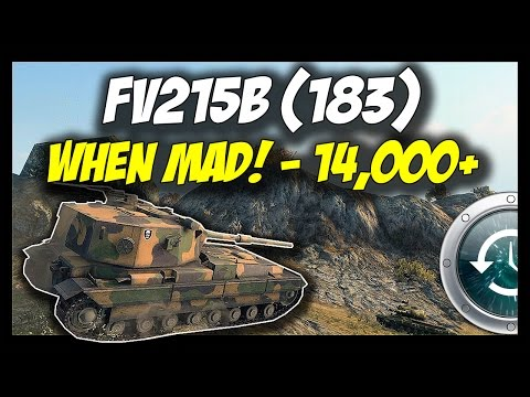 ► World of Tanks: When FV215b (183) was MAD! - 14,000+ Damage - Past #6