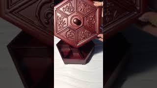 Khay bánh kẹo Phúc Lộc Thọ - Khay bánh kẹo gỗ hương cao cấp